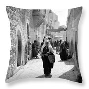 Bethlehemite Going To The Market Throw Pillow
