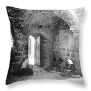 Bethlehemites Women Working Year 1925 Throw Pillow