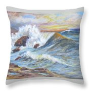 Beth's Sea Throw Pillow by Caroline Owen-Doar