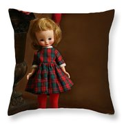 Betsy In Plaid Throw Pillow