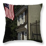 Betsy Ross House Philadelphia Throw Pillow