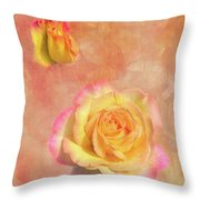 Betsy's Roses Throw Pillow