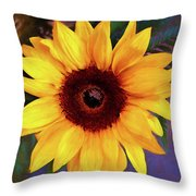 Betsy's Sunflower Throw Pillow