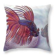Betta Fish Throw Pillow