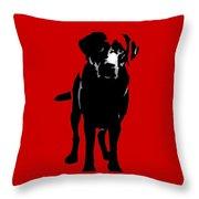 Better Black Lab Design Throw Pillow