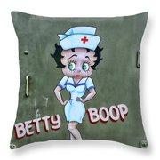 Betty Boop As A Nurse Throw Pillow