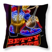Betty Boots Throw Pillow