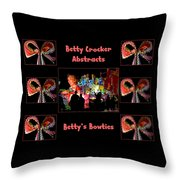 Betty Crocker's Abstracts - Betty's Bowties Throw Pillow