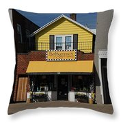 Betty James Throw Pillow