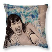 Betty Page Throw Pillow