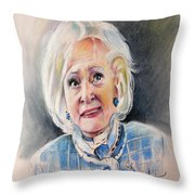 Betty White In Boston Legal Throw Pillow