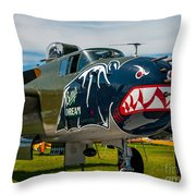 Betty's Dream Landed Throw Pillow
