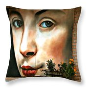 Between Closed Doors Throw Pillow