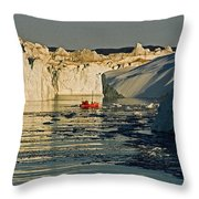 Between Icebergs - Greenland Throw Pillow