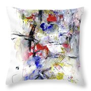 Between Jazz And The Blues Throw Pillow