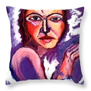 Between Light And Darkness Throw Pillow