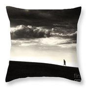 Between Living And Dying Throw Pillow