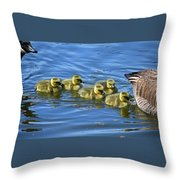 Between Mom And Pop Throw Pillow