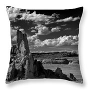 Between Monument Valley And Heaven  Throw Pillow