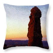 Between Rock And Sky Throw Pillow