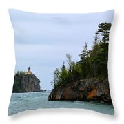 Between Rocks Panorama Throw Pillow