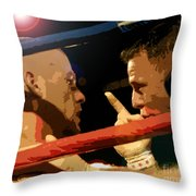 Between Rounds Throw Pillow