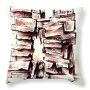 Between The Boxes Throw Pillow