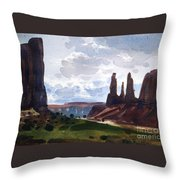 Between The Buttes Throw Pillow