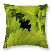 Between The Leaves Throw Pillow