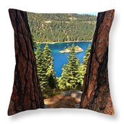 Between The Pines Throw Pillow