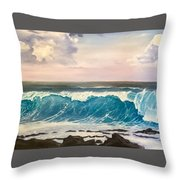 Between The Turtle And The Shark Throw Pillow