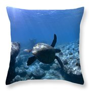 Between Two Rocks Throw Pillow