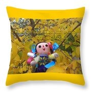 Between Yellows Throw Pillow