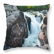 Betws-y-coed Waterfall In North Wales Throw Pillow