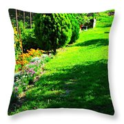 Beutifull Garden Throw Pillow
