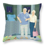 Bev And Jack Throw Pillow