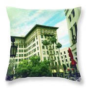 Beverly Hills Rodeo Drive 3 Throw Pillow