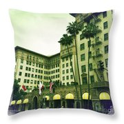 Beverly Hills Rodeo Drive 4 Throw Pillow