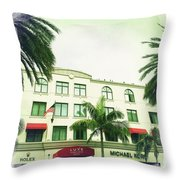 Beverly Hills Rodeo Drive 5 Throw Pillow