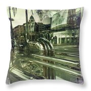 Beverly Hills Rodeo Drive 8 Throw Pillow