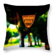 Beverly Hills Sign Throw Pillow