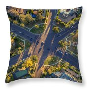 Beverly Hills Streets, Aerial View Throw Pillow