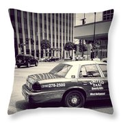 Beverly Hills - Taxi - Wilshire Boulevard Intersection Throw Pillow