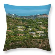 Beverly Park Beverly Hills Panorama Throw Pillow