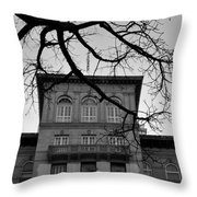 Beverly Wilshire Hotel - Beverly Hills - Black And White Throw Pillow