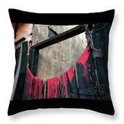 Beware All Who Enter Here - Halloween Gate Throw Pillow