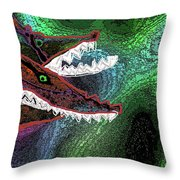 Beware, When You Decide To Swim With The Big Fish Throw Pillow