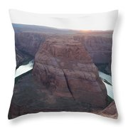 Bend At The River Throw Pillow