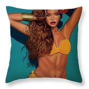 Beyonce 2 Throw Pillow