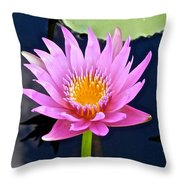 Beyond Beautiful Water Lily 2 Throw Pillow